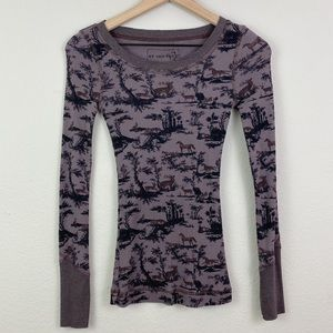Free People Tops - {we the free} recollections animal print thermal